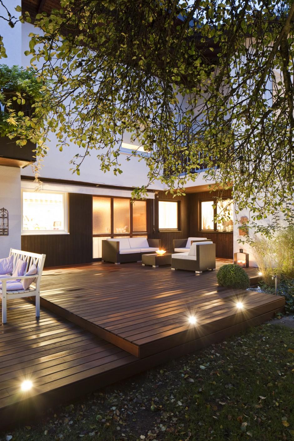 beleuchtung holzterrasse bs holzdesign. Black Bedroom Furniture Sets. Home Design Ideas