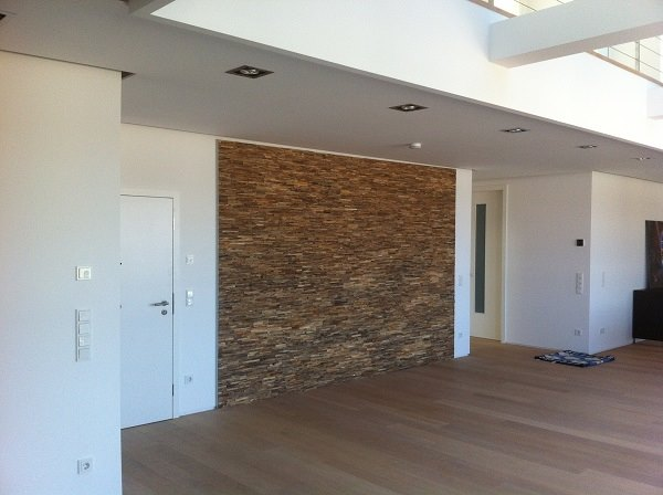 Holz Wand Wohnzimmer  BS-Holzdesign