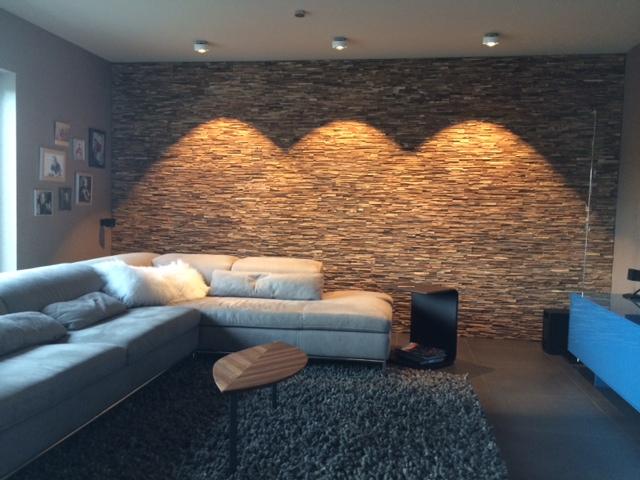 holz wandverkleidung mit beleuchtung bs holzdesign. Black Bedroom Furniture Sets. Home Design Ideas