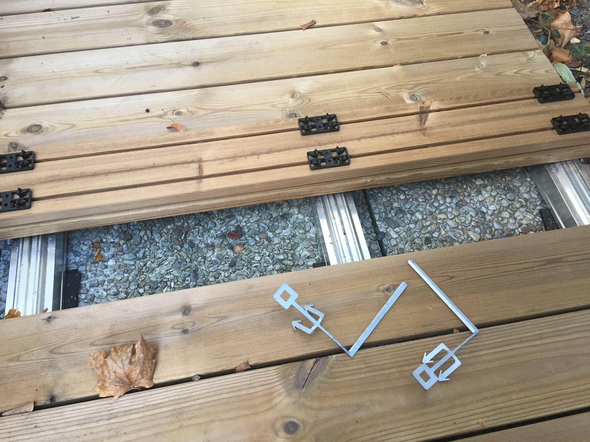 Holzterrasse Clipssystem