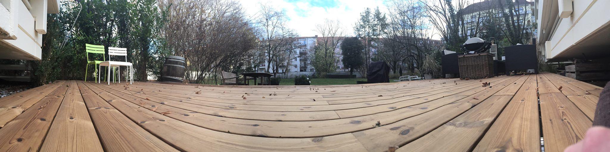 Holzterrasse demontierbar verdeckt montiert
