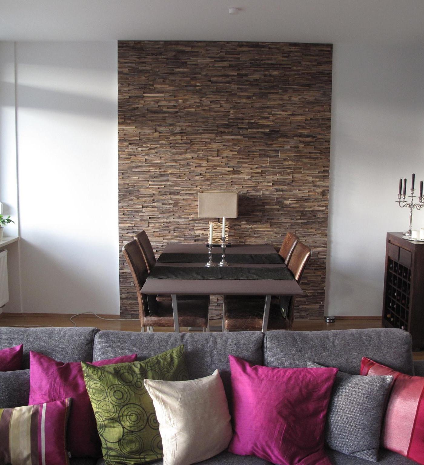 Holz Wandverkleidung Teak modern schlicht  BS-Holzdesign