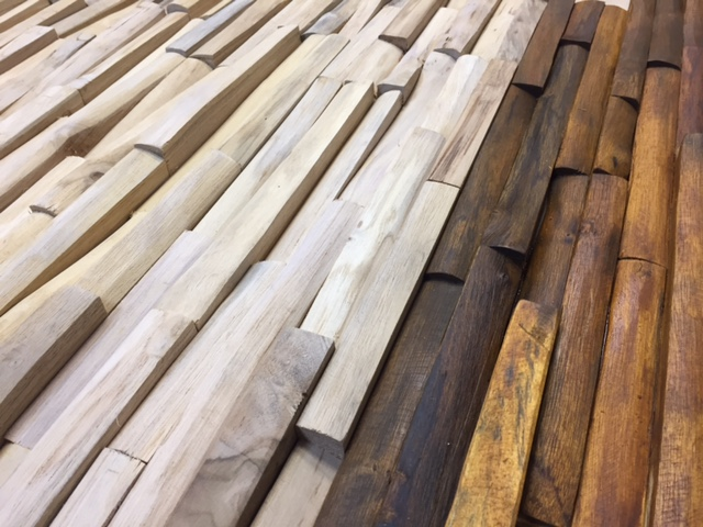 Wandverkleidung Holz braun