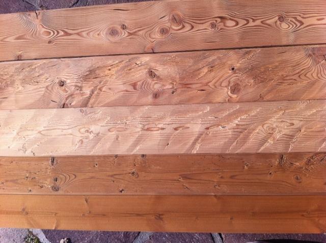 Wandverkleidung Holz gehackt