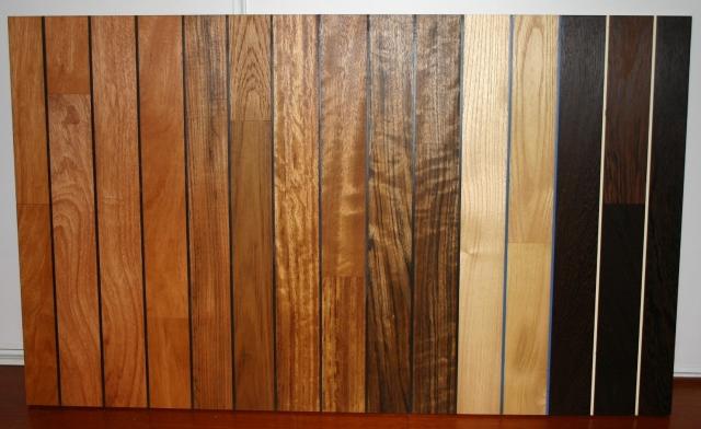 Holzboden Badezimmer V.r. Wenge, Akazie, Afrika Teak, Burma Teak, Iroko,  Doussie