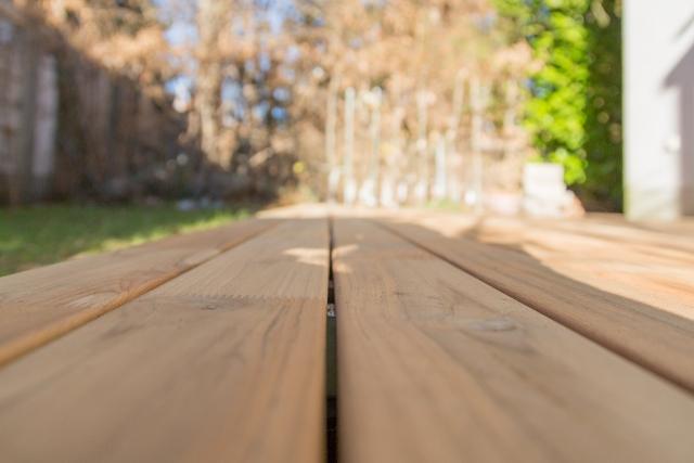 Holzterrassen keilgezinkt
