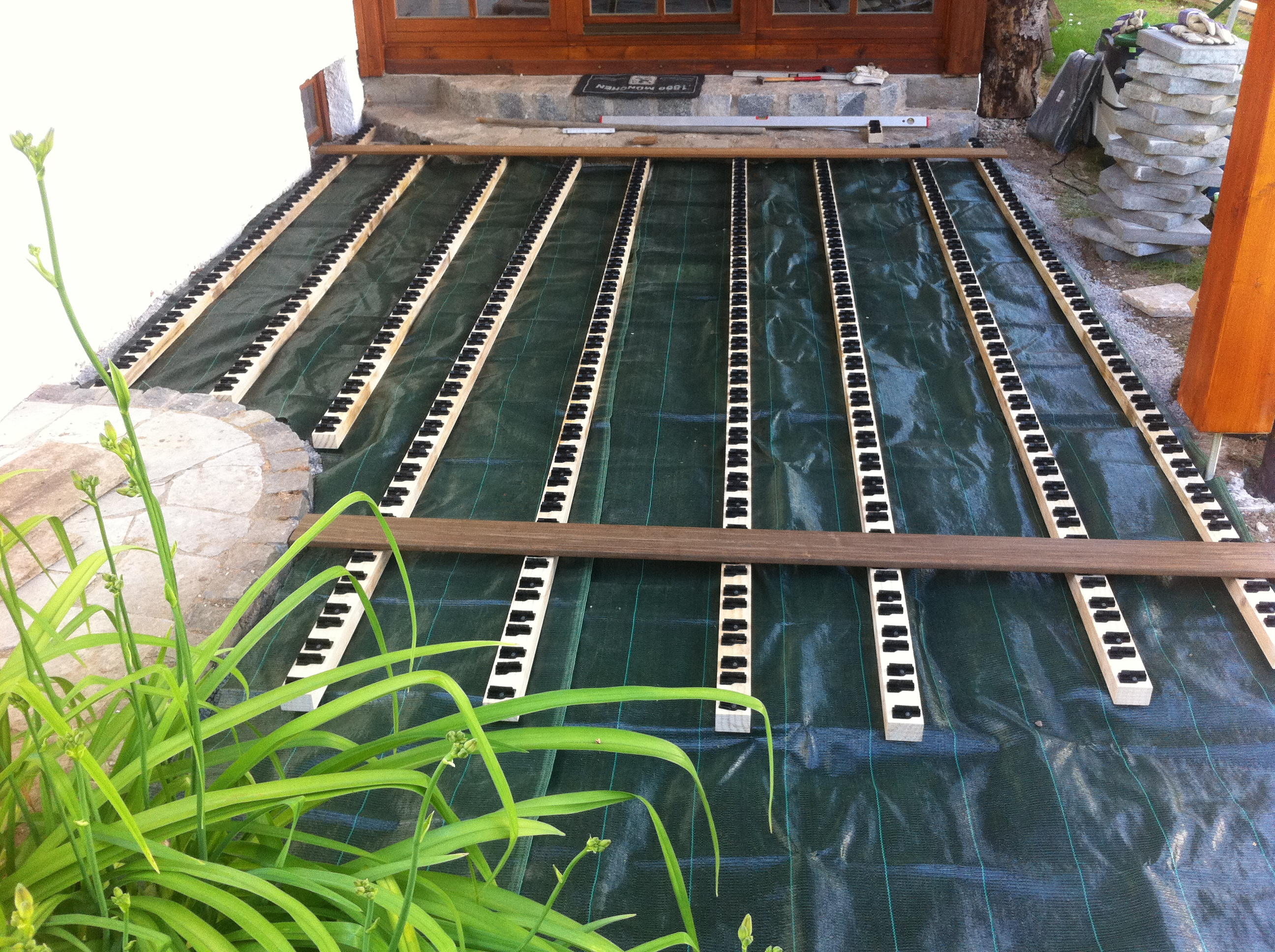 Holzterrassen mit Clipsystem