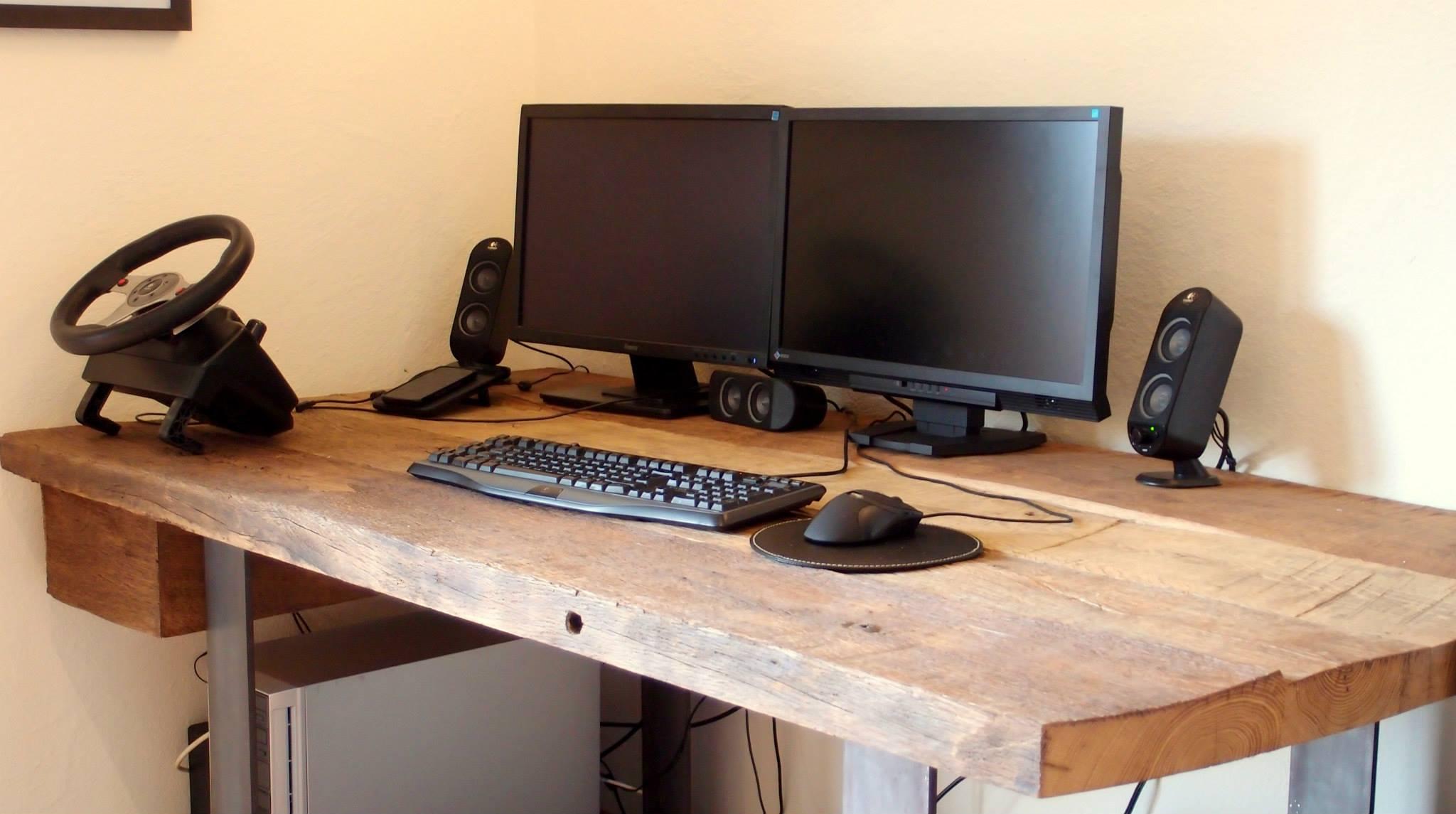Tischplatte Eiche Altholz