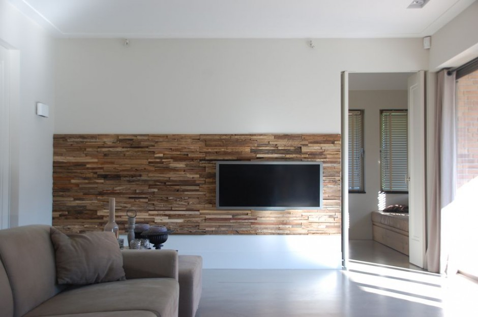 wandverkleidung holz im wohnzimmer bs holzdesign. Black Bedroom Furniture Sets. Home Design Ideas