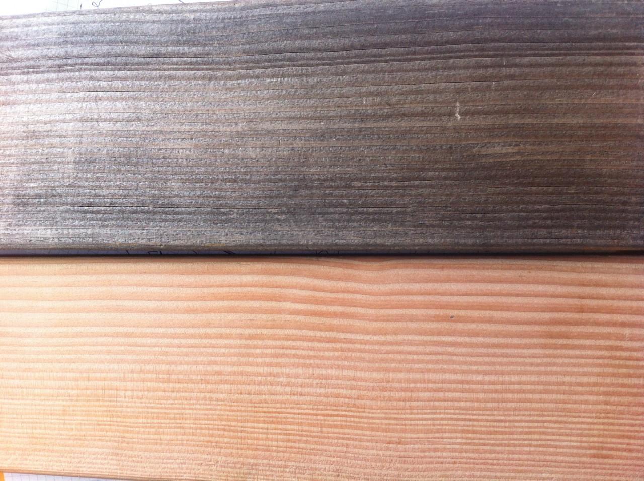 douglasie holzterrasse mit grauer patina bs holzdesign. Black Bedroom Furniture Sets. Home Design Ideas