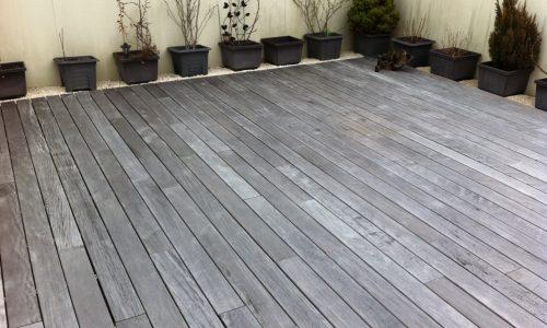 Ipe Holzterrasse Dachterrasse vergraut