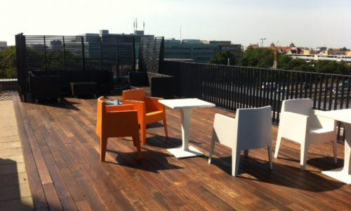 Thermoesche Dachterrasse für sonnige Stunden