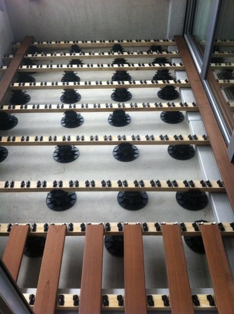 Holzterrassen Baukasten clips system