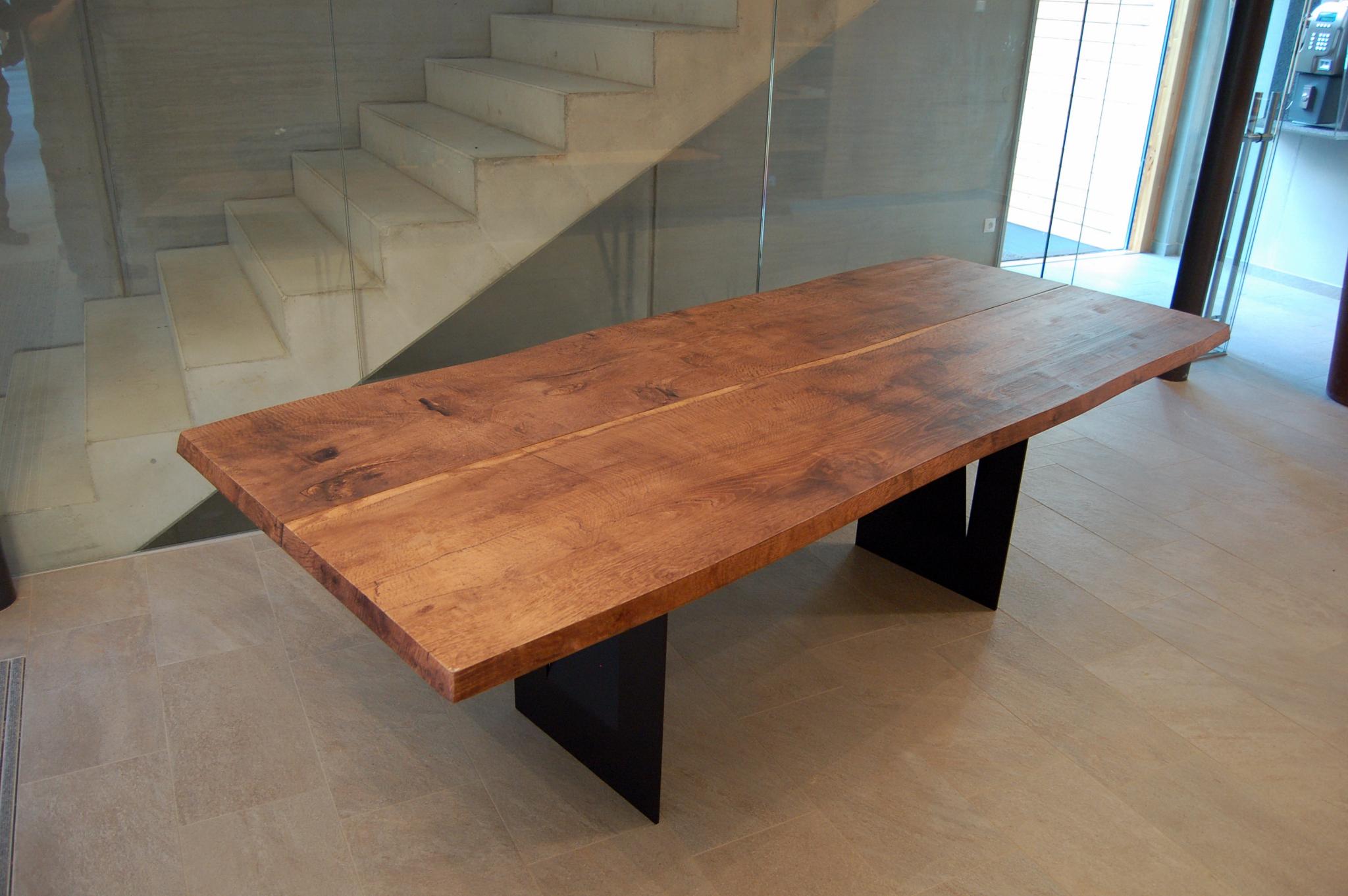 Tischplatte altholz  Tisch Altholz Eiche Nachbildung | BS-Holzdesign