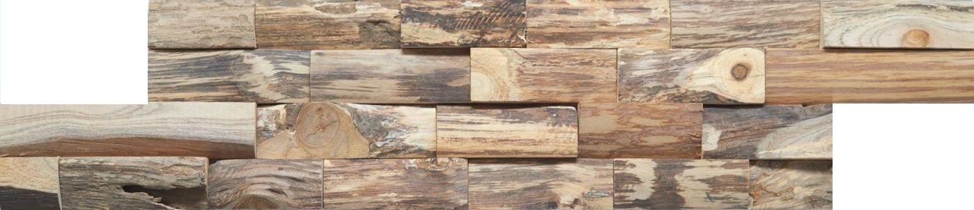 Wandverkleidung Holz Teak R