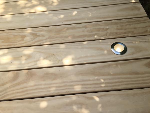 Beleuchtung Holzterrasse
