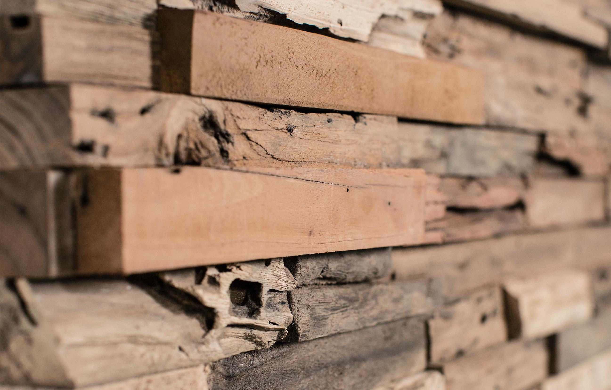 Holz Wandverkleidung innen modern rustikal W  BS-Holzdesign