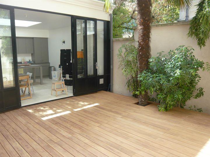 Holzterrasse Atrium