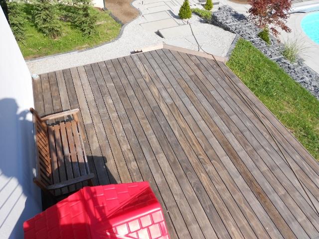 Holzterrasse vergraut Ammersee