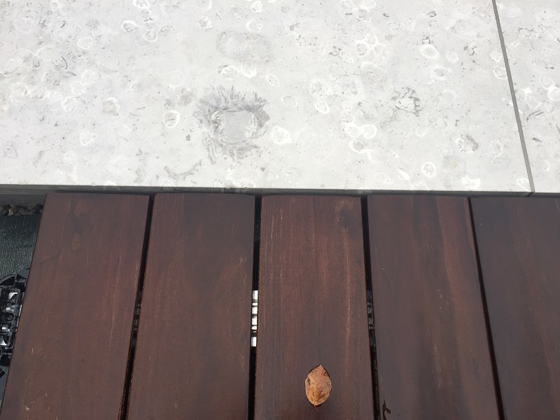 Stein Holz Terrasse
