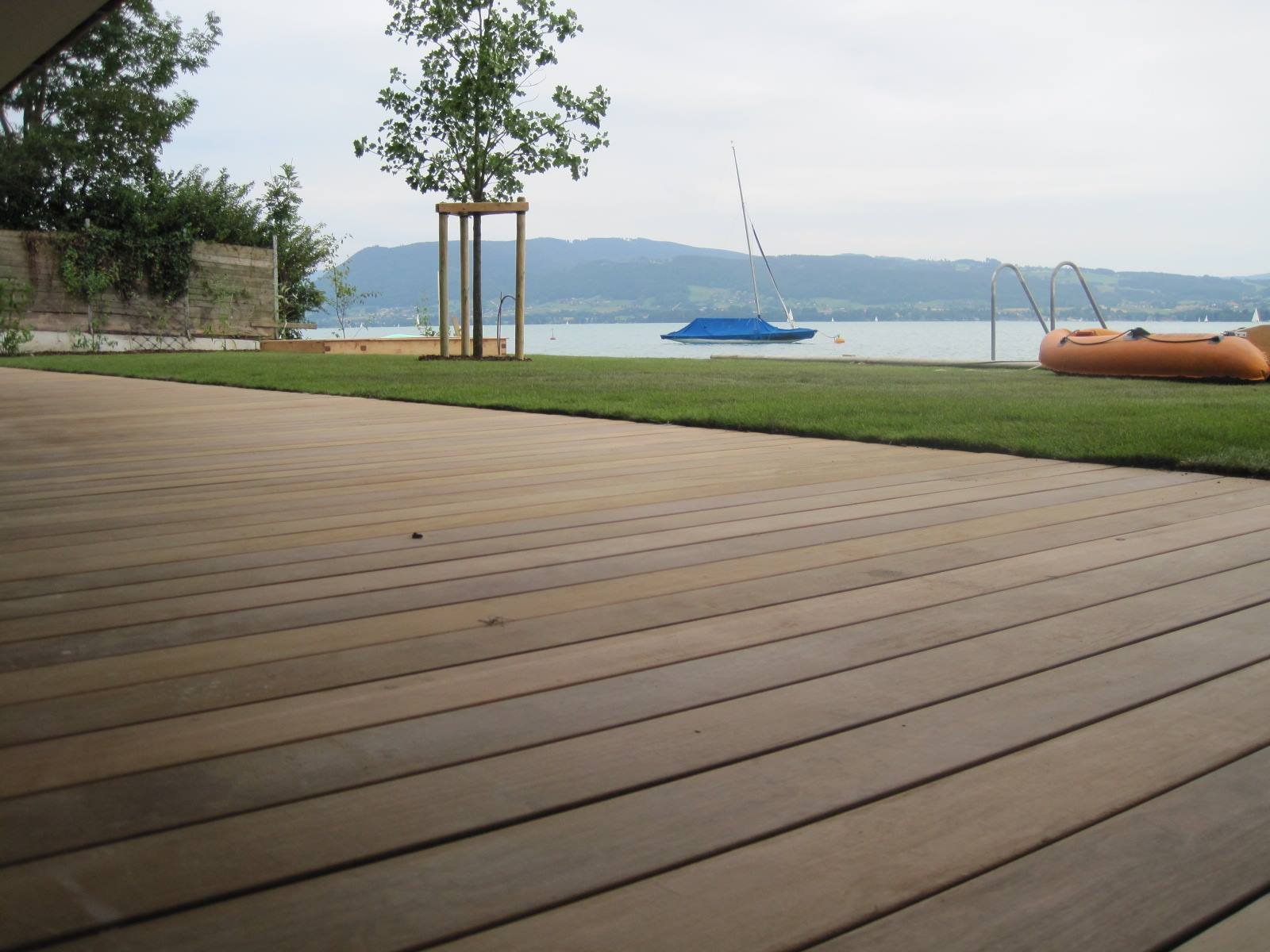 ipe holzterrasse verdeckt verschraubt am see starnberg ammersee. Black Bedroom Furniture Sets. Home Design Ideas