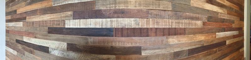 Holz Wand glatt