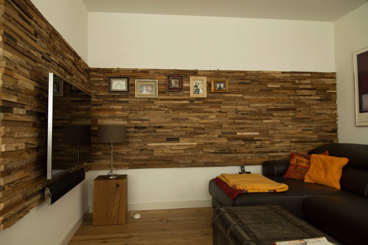 wandverkleidung holz wohnzimmer bs holzdesign. Black Bedroom Furniture Sets. Home Design Ideas