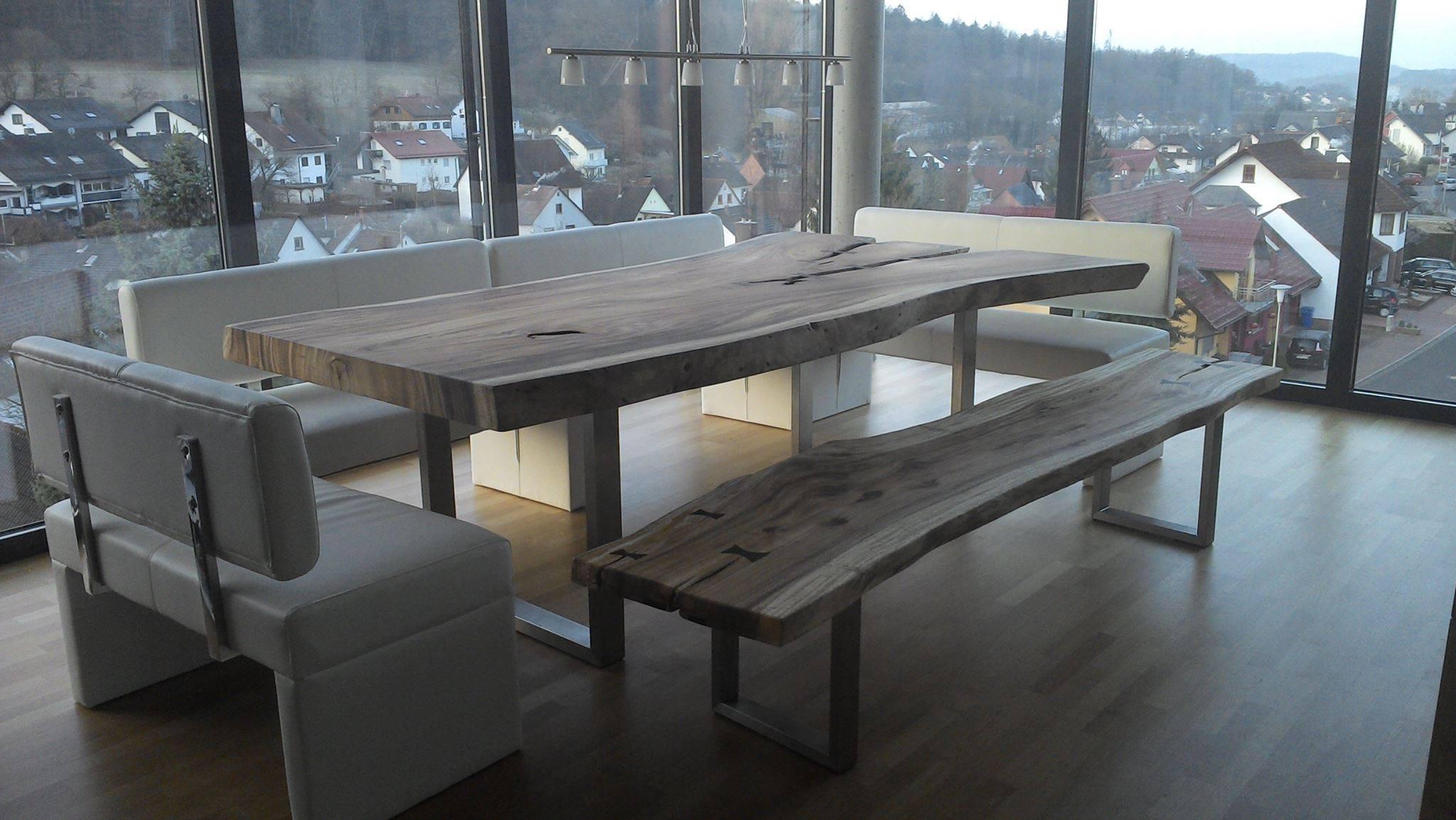 Massivholztisch baumscheibe 2 bs holzdesign for Design massivholztisch