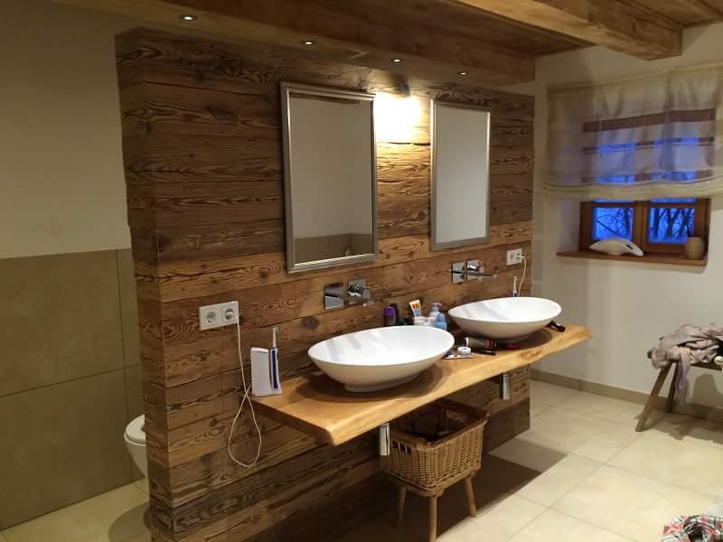 Altholz gehackt Badezimmer
