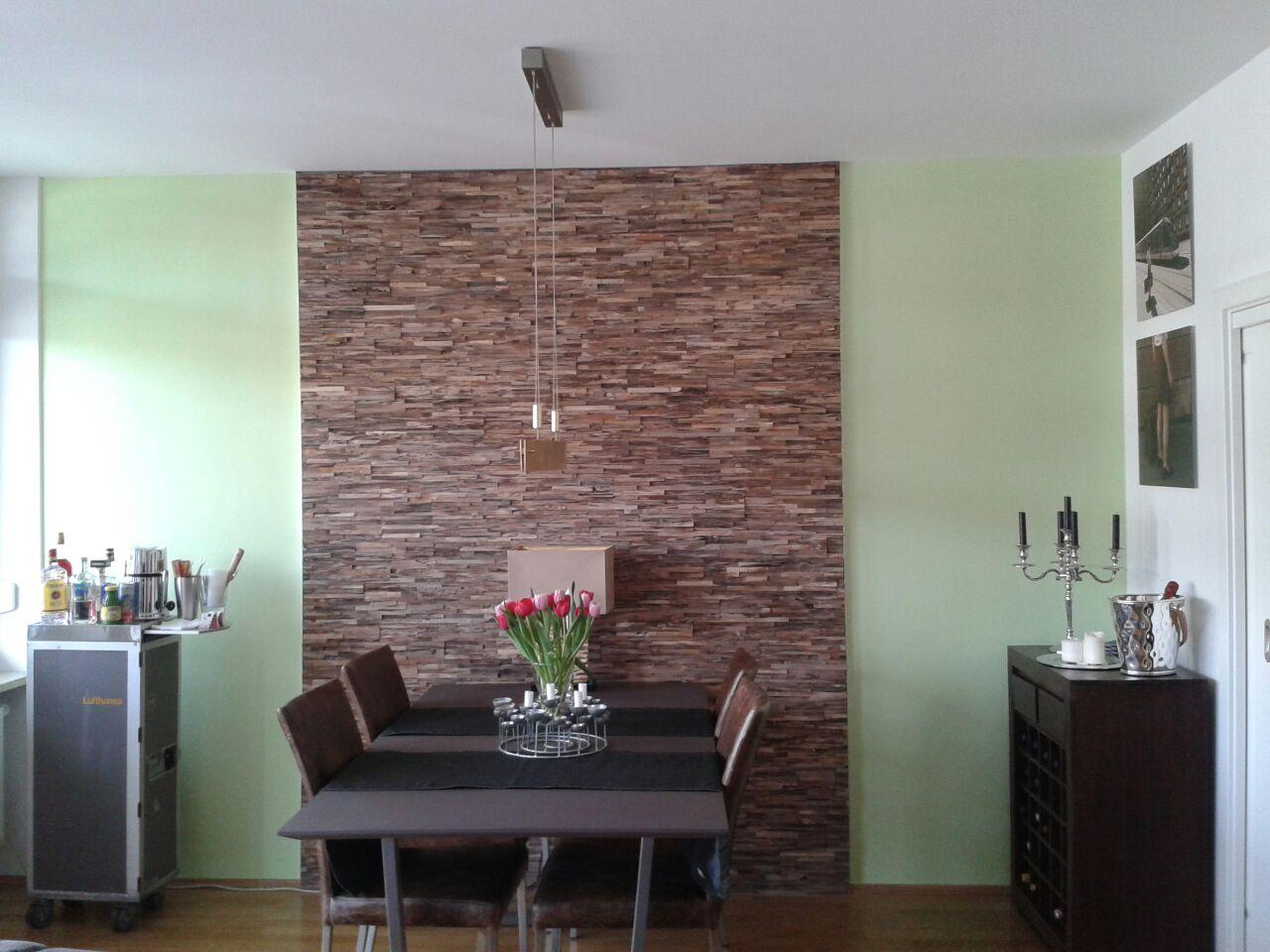 holz wandverkleidung teak grau braun bs holzdesign. Black Bedroom Furniture Sets. Home Design Ideas