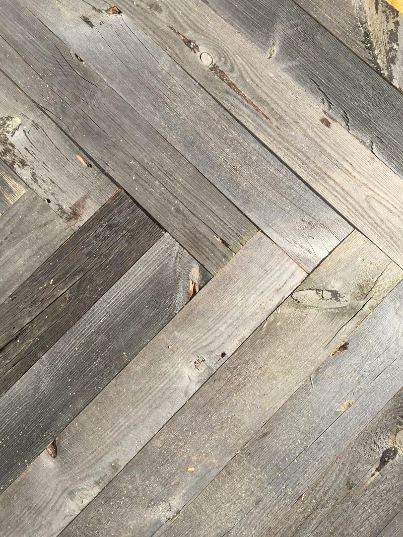 Holz Bild grau