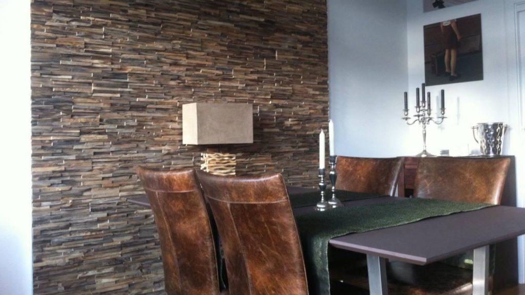 Holz Wandverkleidung Teak Paneele kleben   BS-Holzdesign