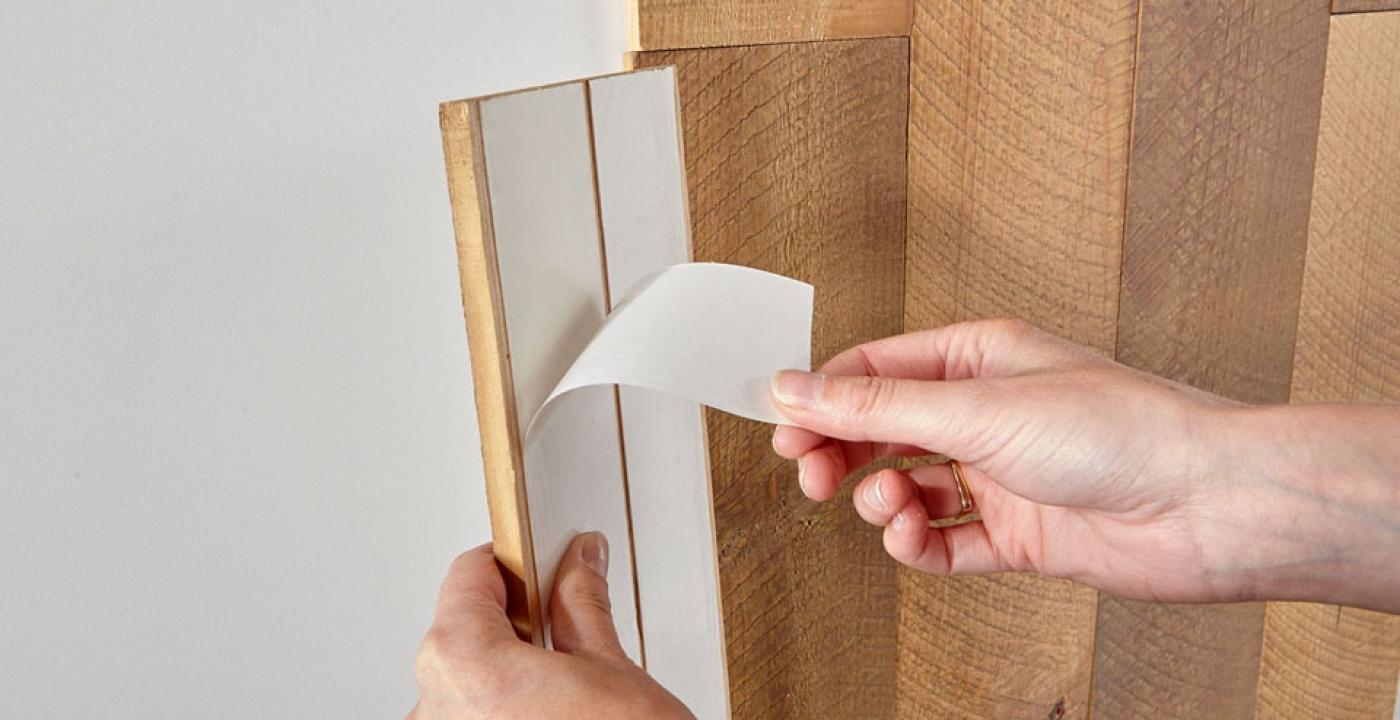 holz an wand kleben wandverkleidung holz b bs holzdesign. Black Bedroom Furniture Sets. Home Design Ideas