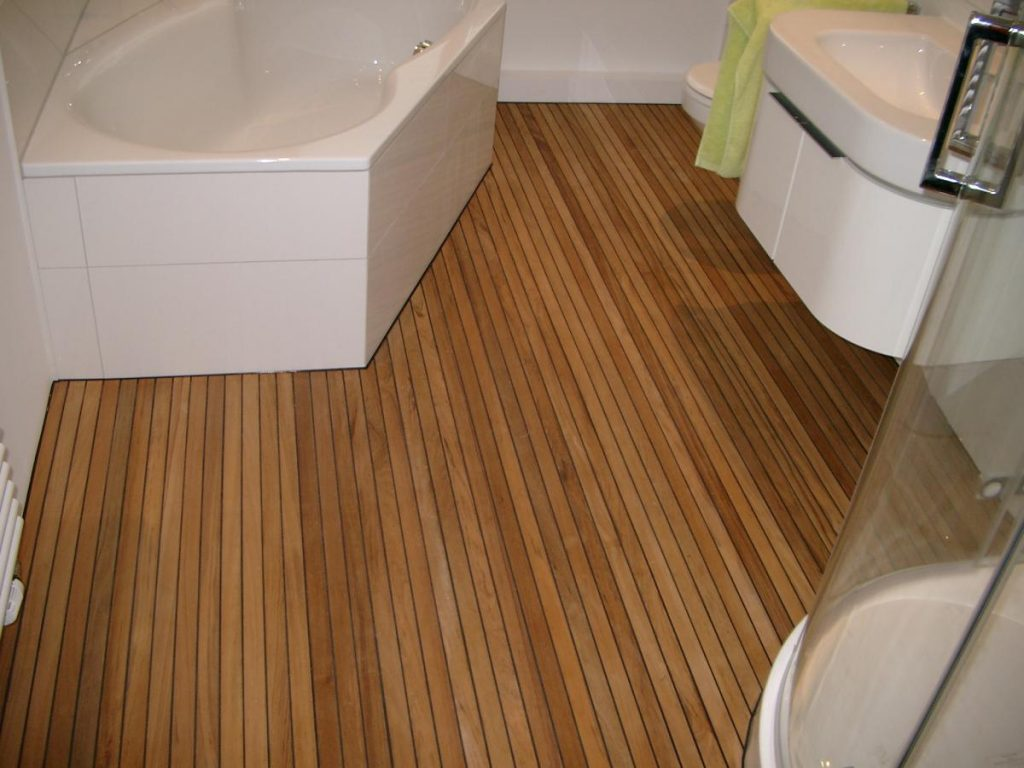 Teak Holz mit Gummifuge Badezimmer   BS Holzdesign