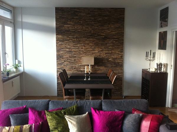 Wandverkleidung Holz Teak modern | BS-Holzdesign