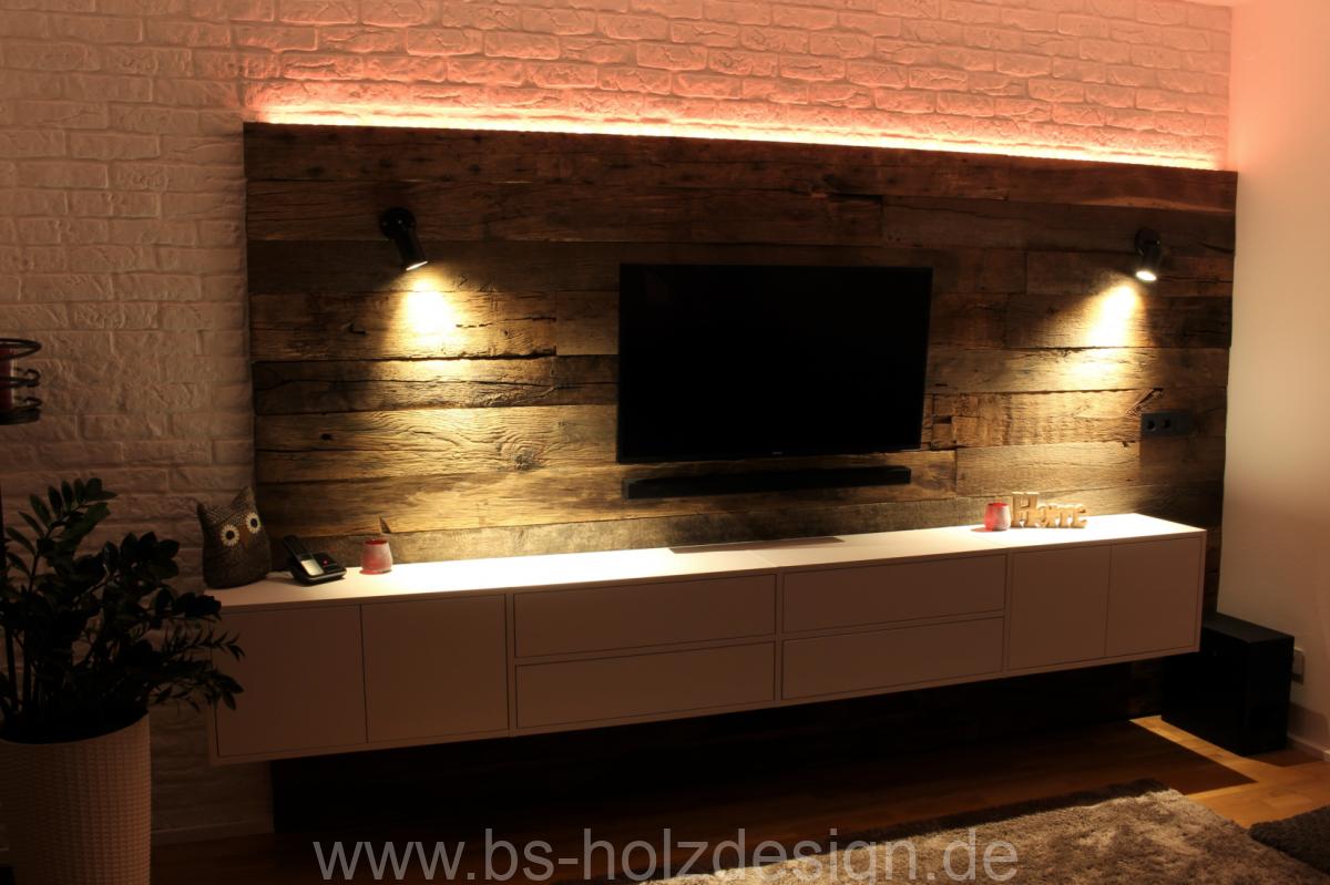 wandverkleidung altholz eiche bs holzdesign. Black Bedroom Furniture Sets. Home Design Ideas