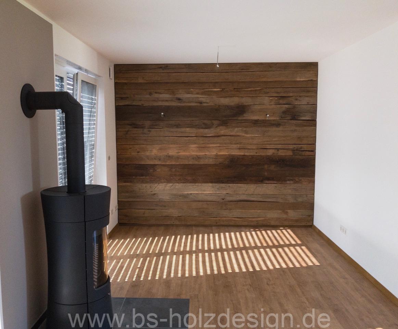 Wandverkleidung altholz eiche bs holzdesign - Wandpaneele altholz ...