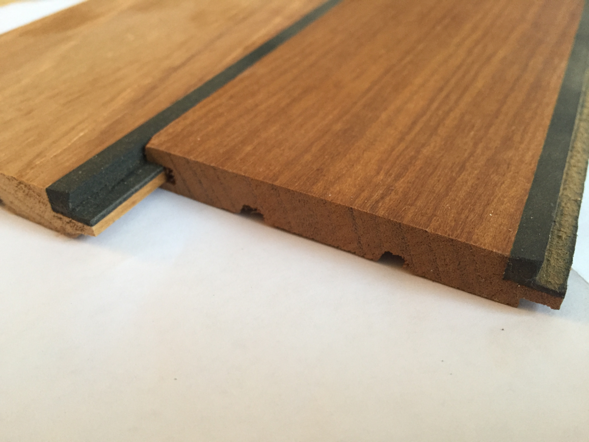 Teak Holz mit Gummifuge Badezimmer | BS-Holzdesign
