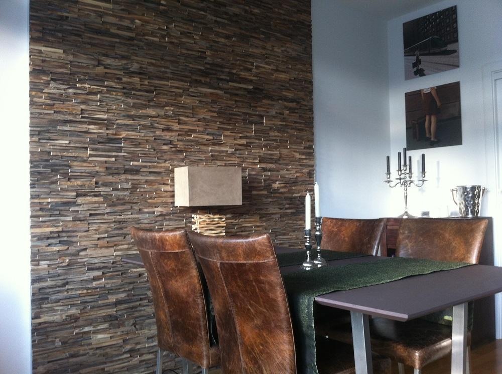 Holz Wandverkleidung Esszimmer Teak Bs Holzdesign