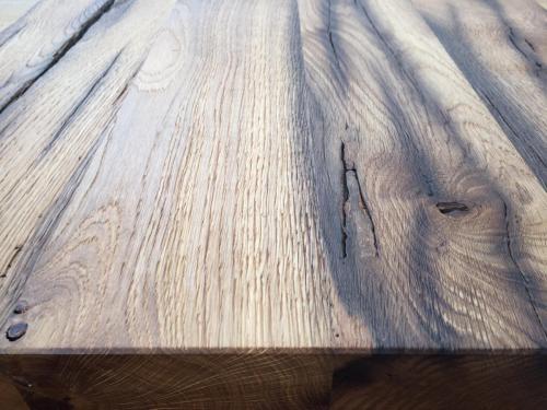 Altholz Tisch gebürstet