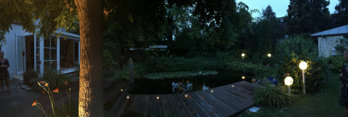 Holzterrasse Beleuchtung