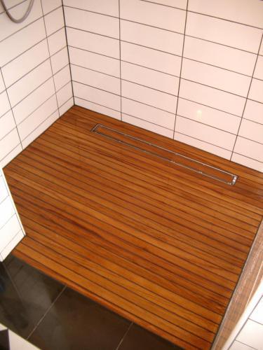Holz Dusche