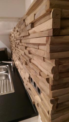 Holz Küchen Rückwand