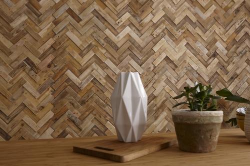 Holz Paneel V Form