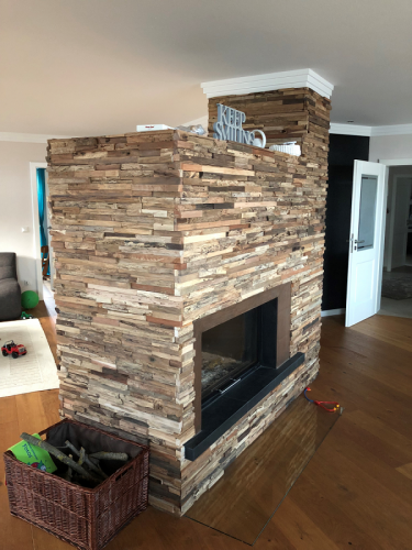 Holz Verkleidung Kamin W