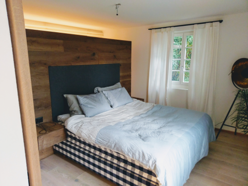 Holz Wand Schlafzimmer
