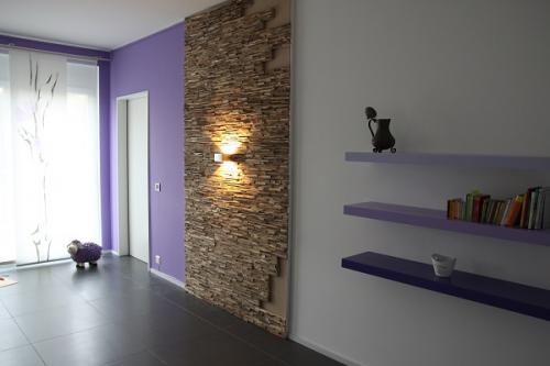 Holz Wandverkleidung Wohnzimmer (1)