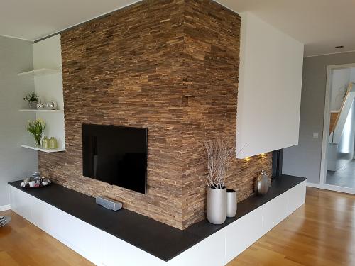 Holz Wandverkleidung modern teak