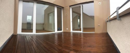 Holzbelag  Dachterrasse spreisselfrei ohne splitter