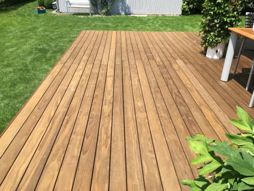 Holzterrasse ohne Splitter
